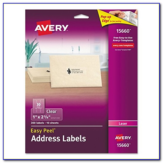 Avery Clear Labels Template 18660