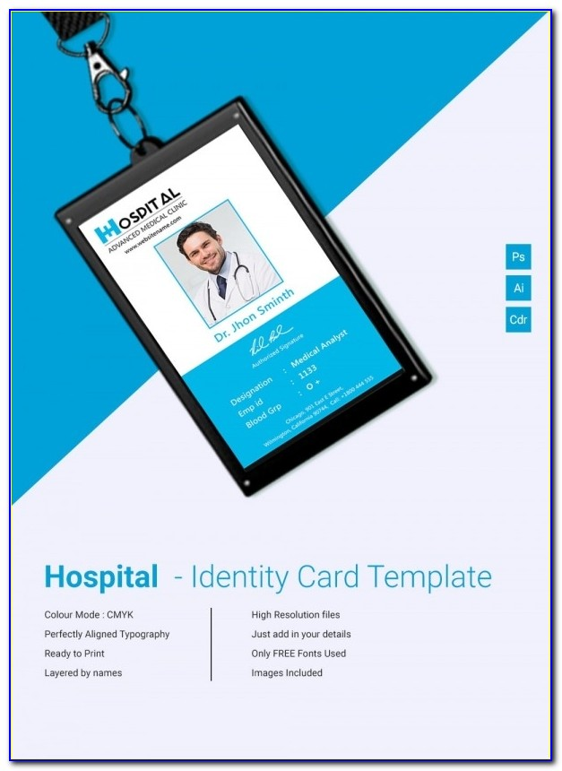 18+ Id Card Templates – Free Psd Documents Download | Free Intended For Employee Id Card Template Psd Free Download