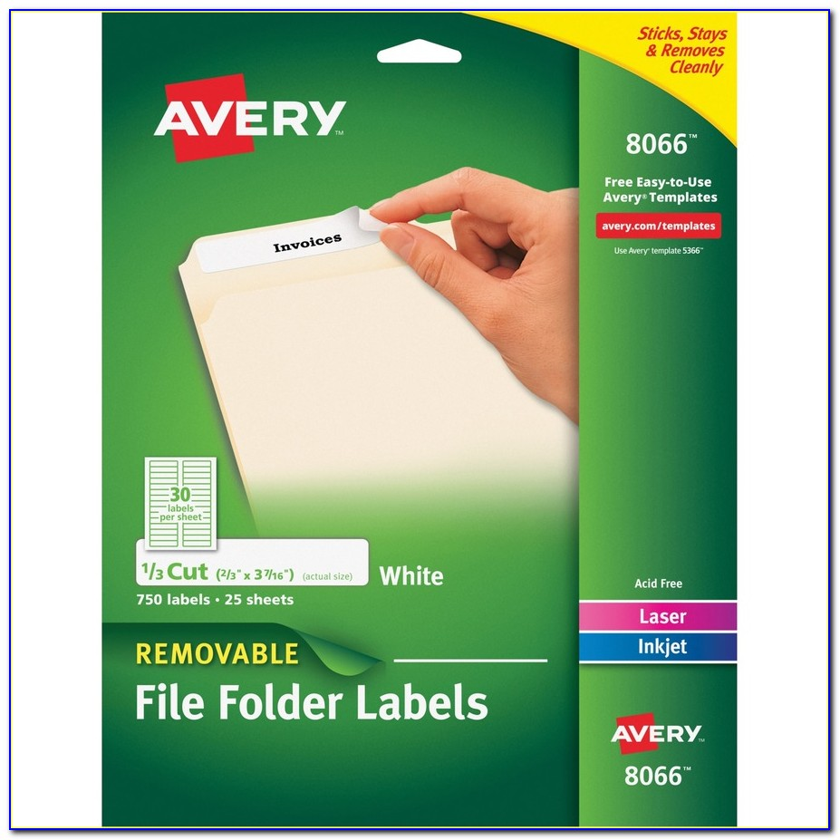 Avery File Folder Labels Template 8066