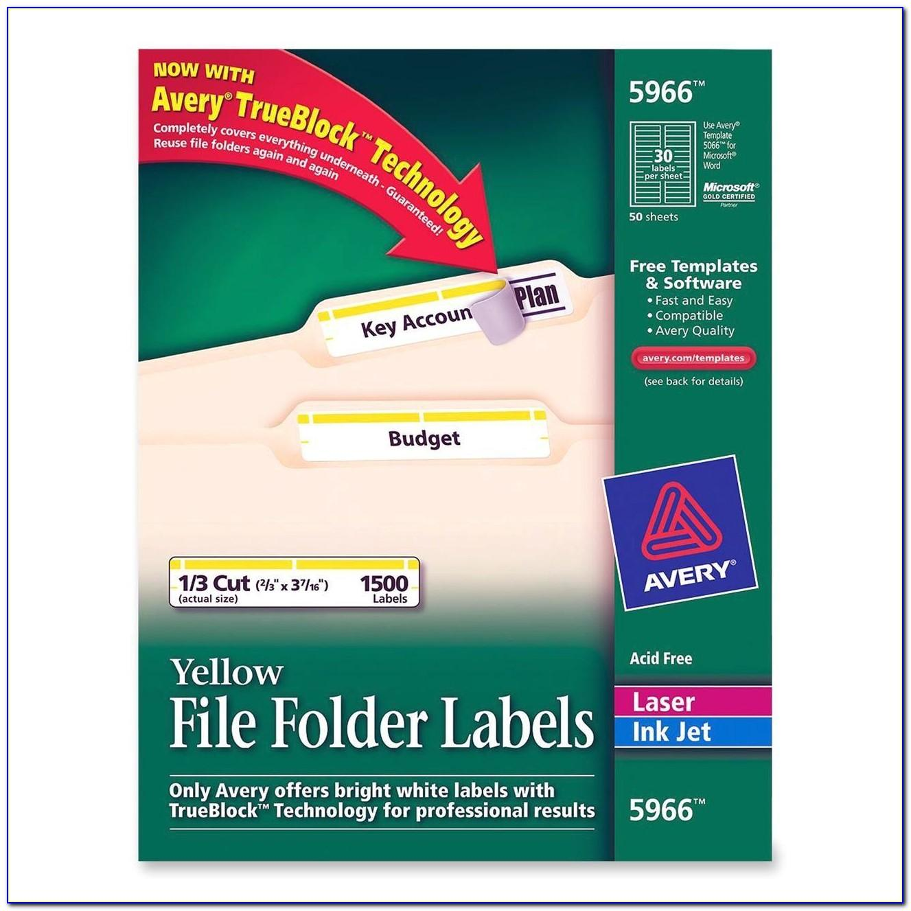 Avery Filing Labels 5366 Template