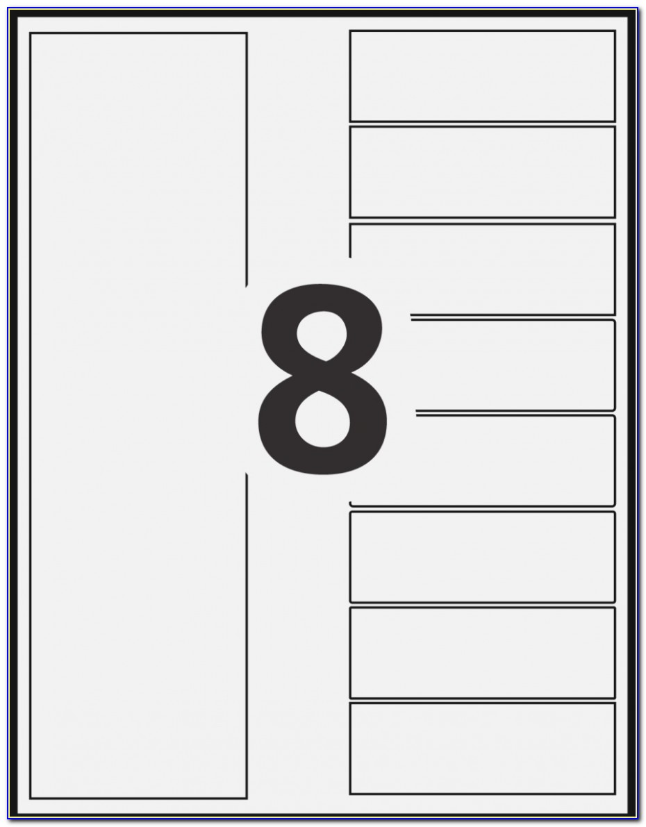 Avery Filing Labels Template 5866