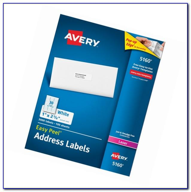 Avery Laser Address Labels Template