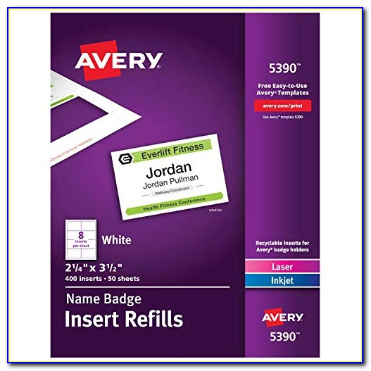 Avery Pin Style Name Badges 74549 Template