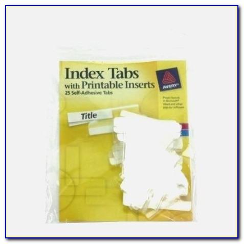 Avery Printable Self Adhesive Tabs 16282 Template