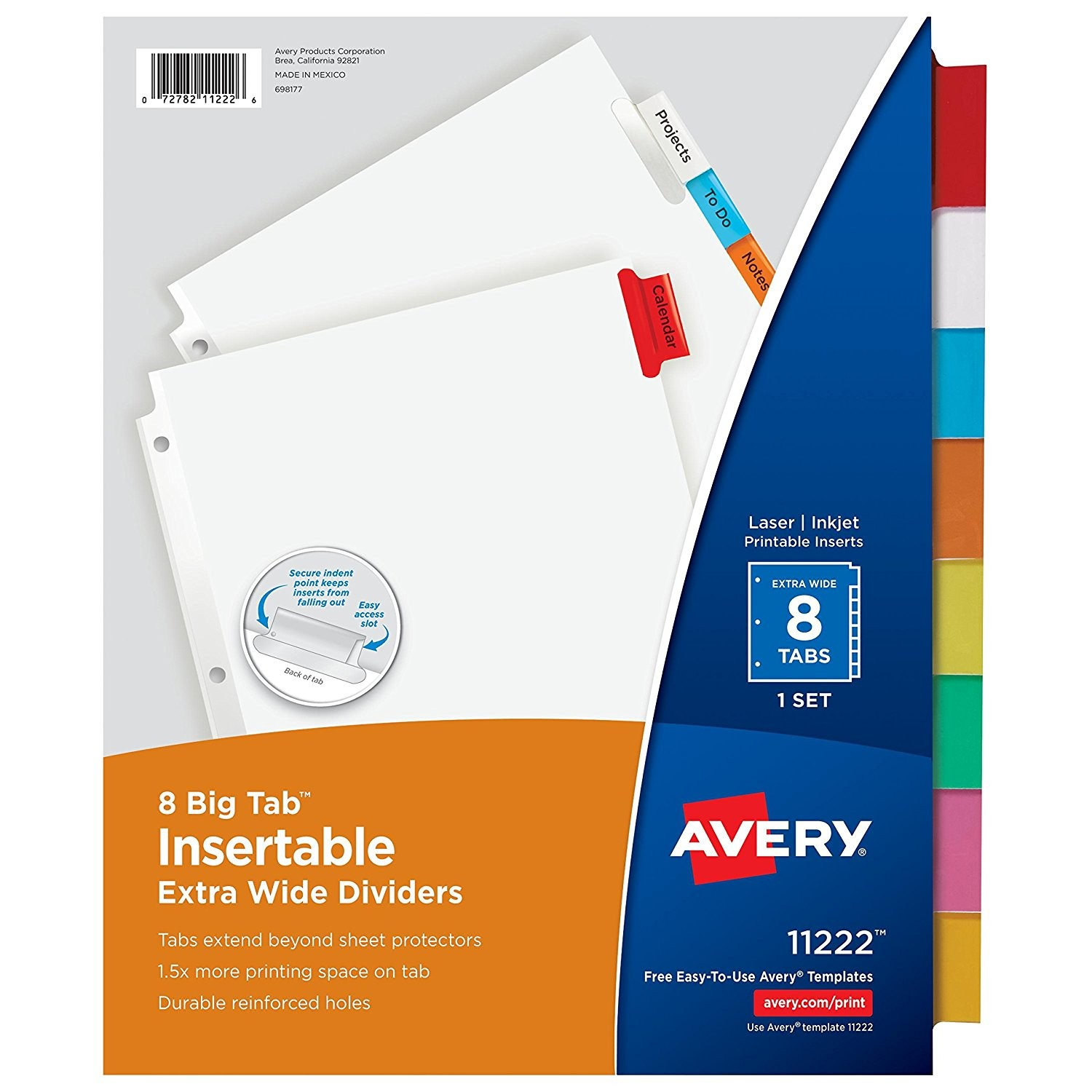 Avery Big Tab Template New Amazon Com Avery Big Tab Insertable Extra Wide Dividers 8