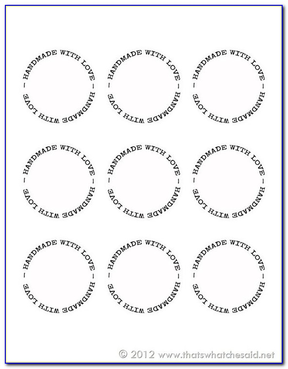 Avery Round Label Template 5293