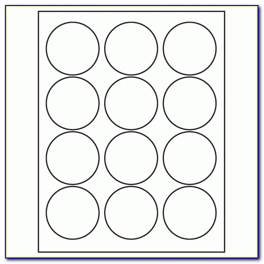 Avery Round Label Template 8293