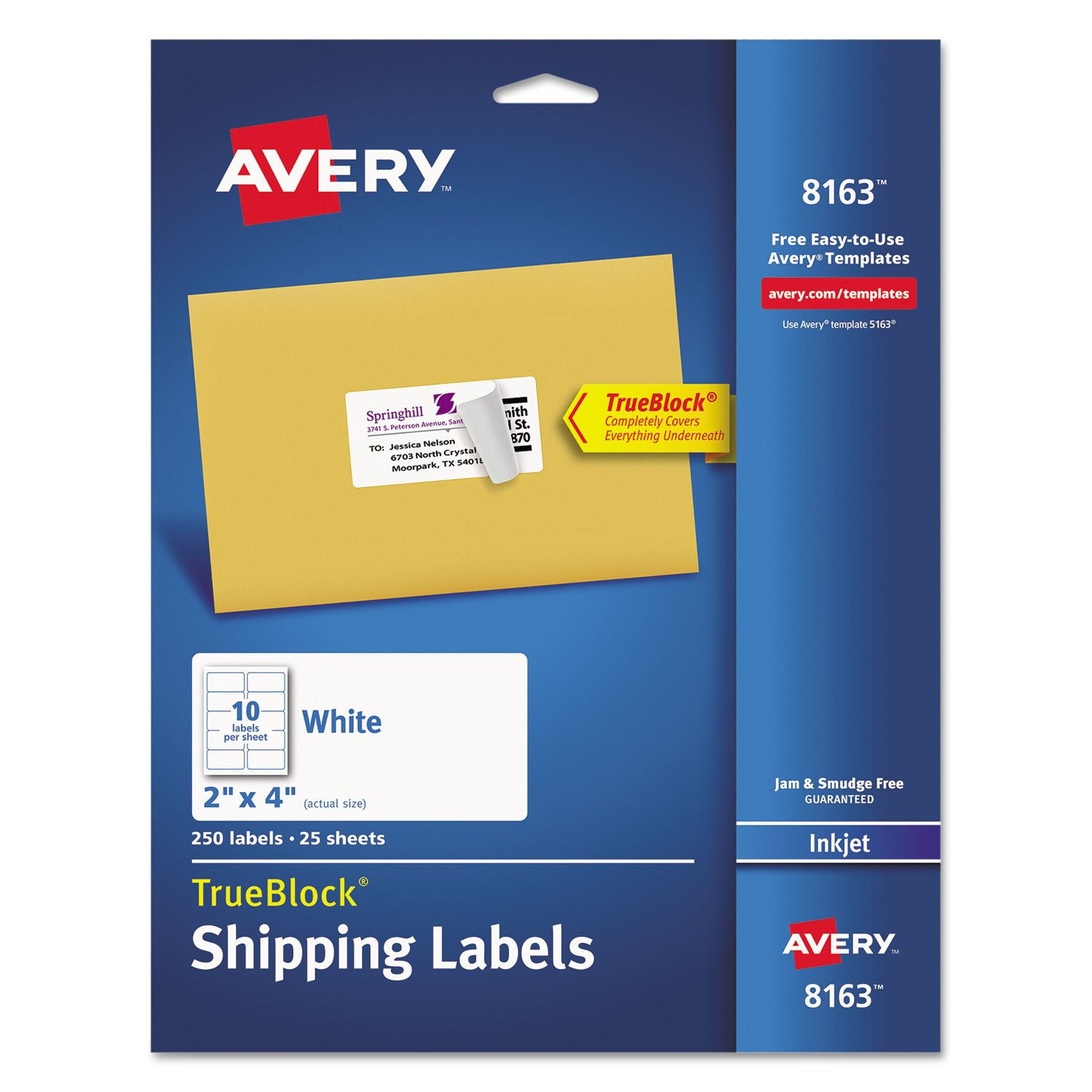 Avery Shipping Label Template 8163