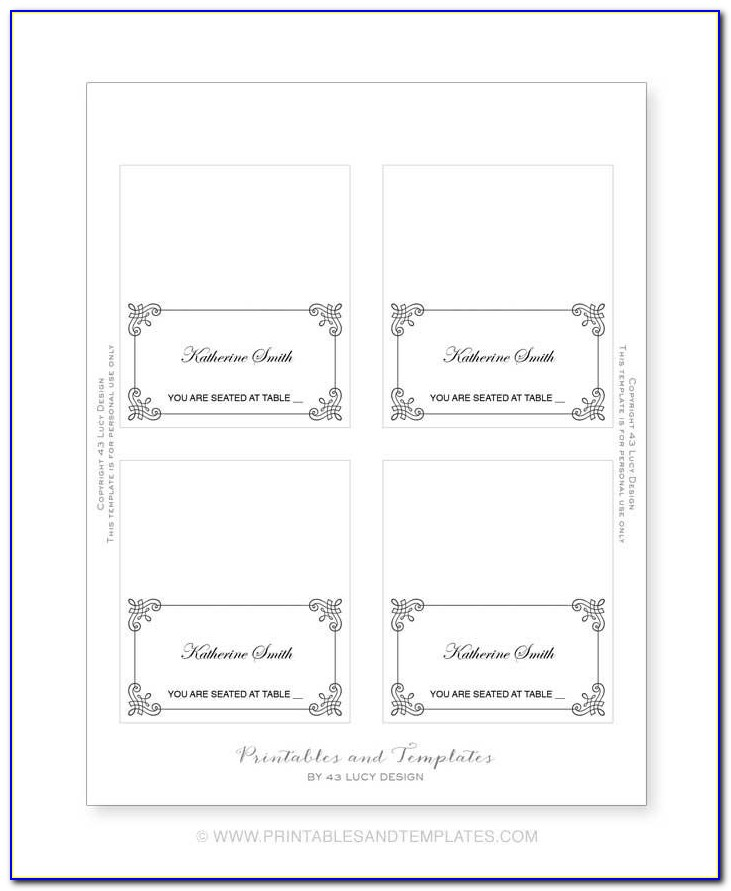 Avery Table Tent Card Template
