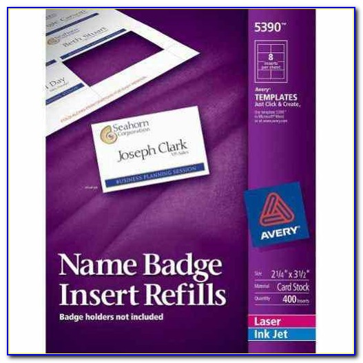 Avery Template 5390 Name Badges