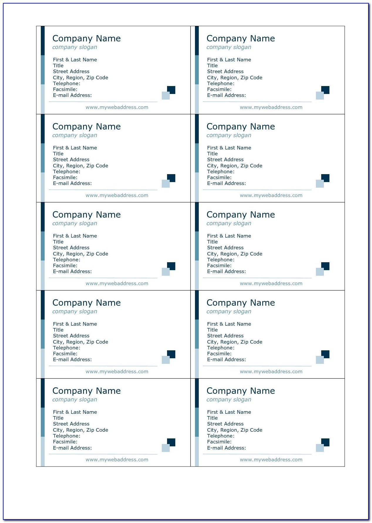 Avery Template 8371 Business Cards For Mac