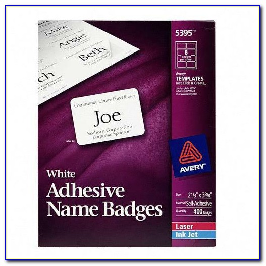 Avery Template 8395 Name Badges