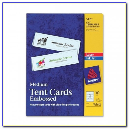 Avery Tent Card Template 5302