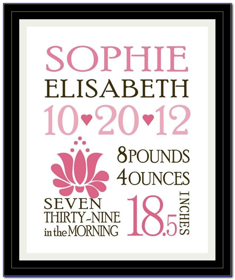 Baby Birth Announcement Photoshop Templates Free