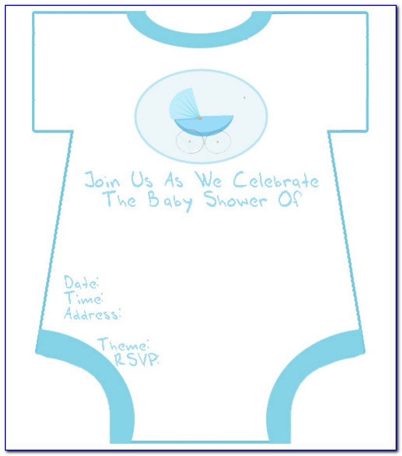 Baby Boy Invitation Templates Free Printable Ba Shower Invitations