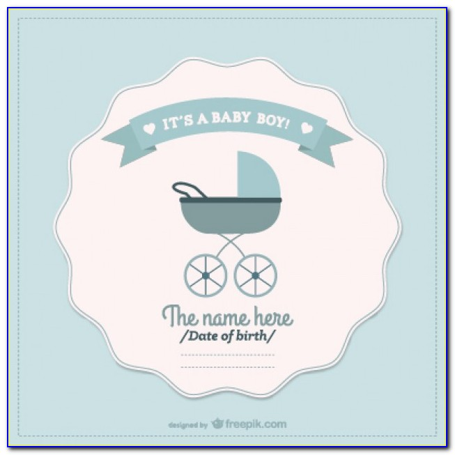 Baby Boy Birth Announcement Templates