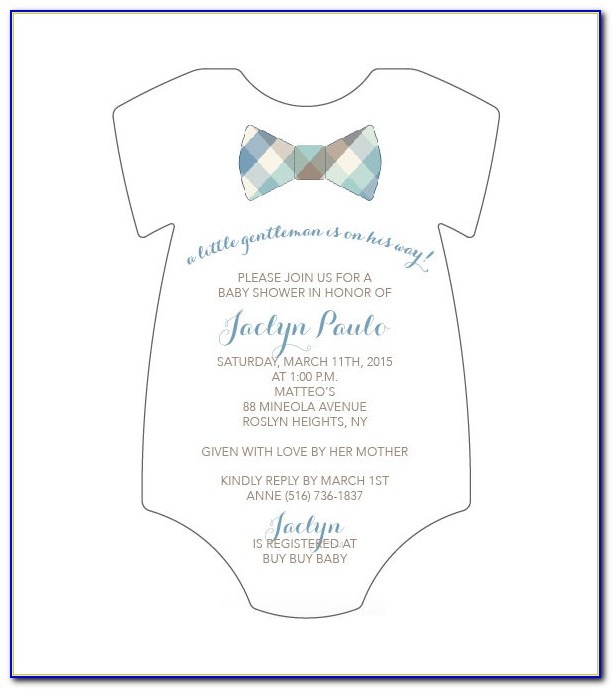Baby Clothes Invitation Template