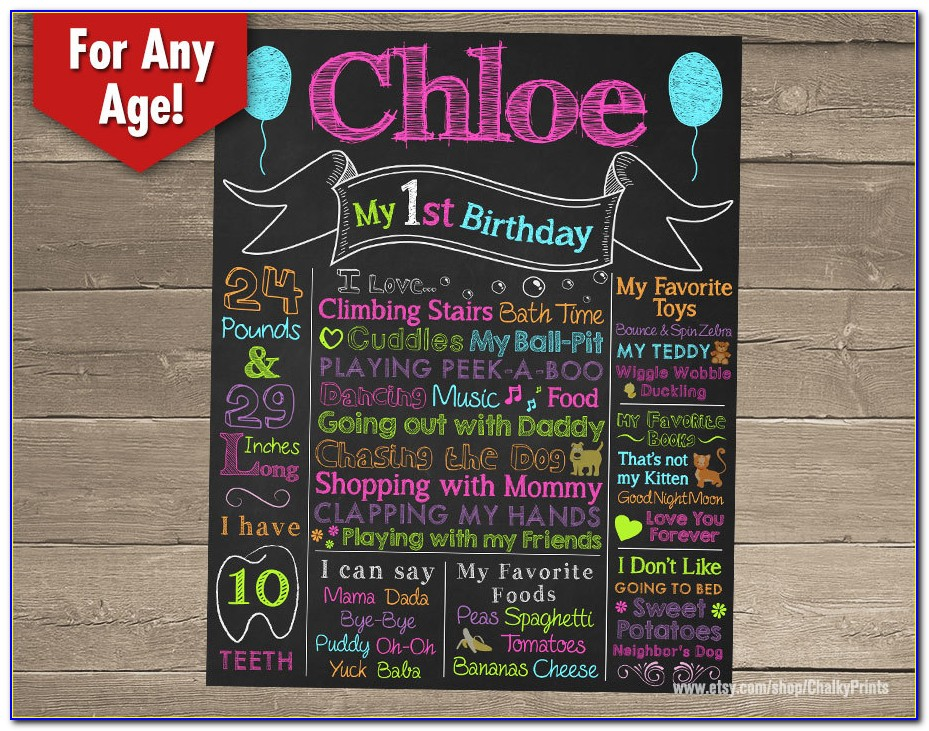 Baby First Birthday Poster Template
