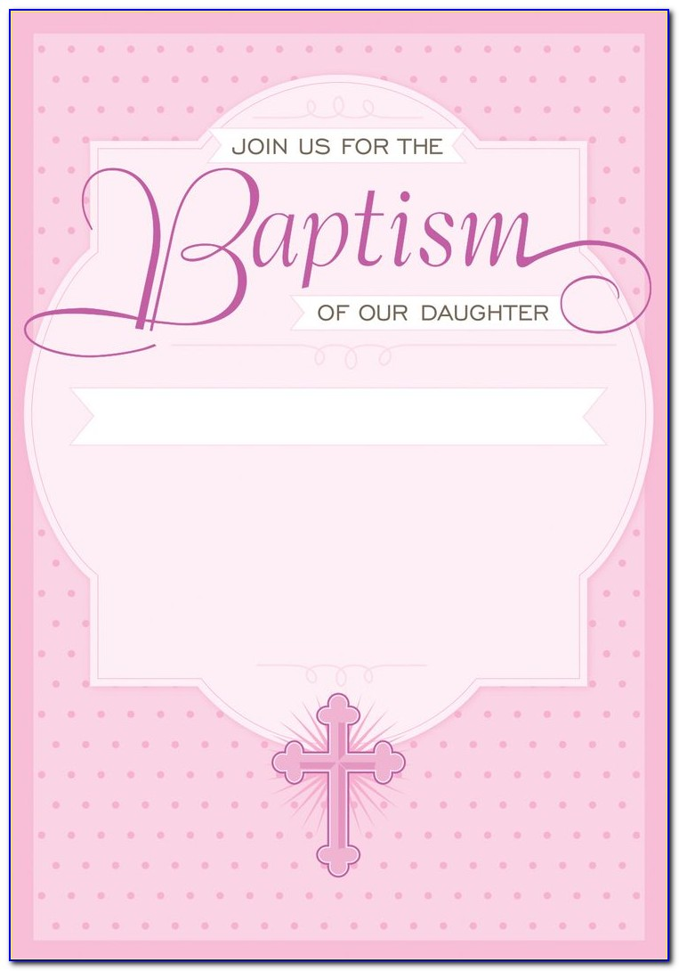 Baby Girl Baptism Invitations Templates