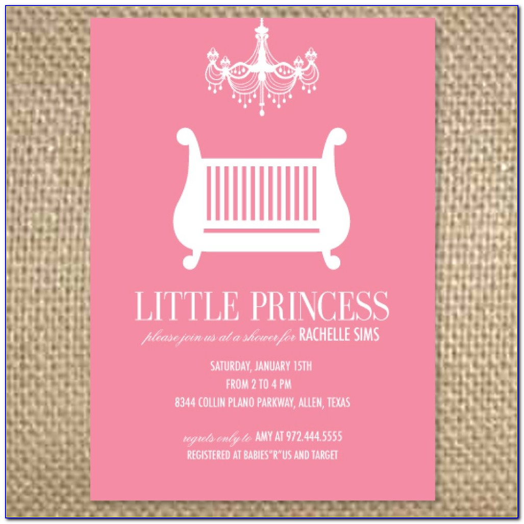 Baby Girl Shower Invitations Templates