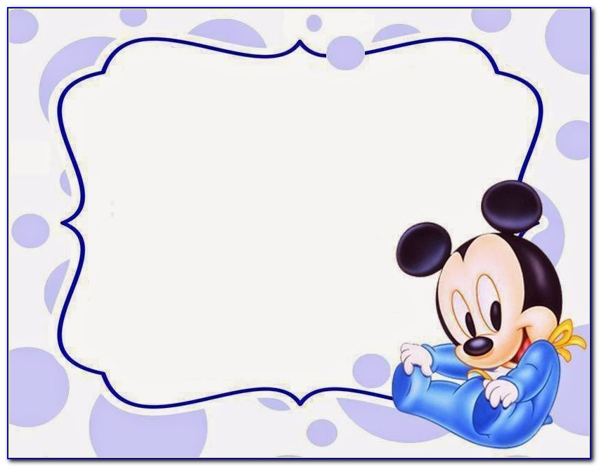 Baby Mickey Mouse Invitation Template Printable