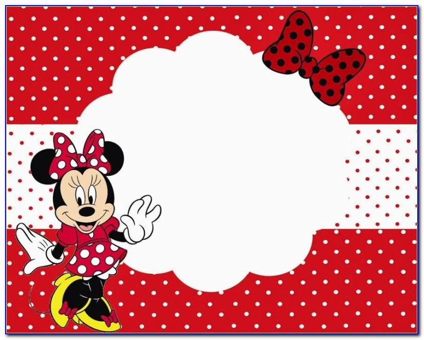 Baby Minnie Mouse Invitations Templates Free
