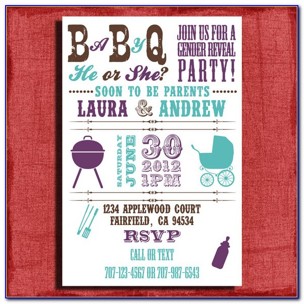 Baby Q Shower Invitations Templates