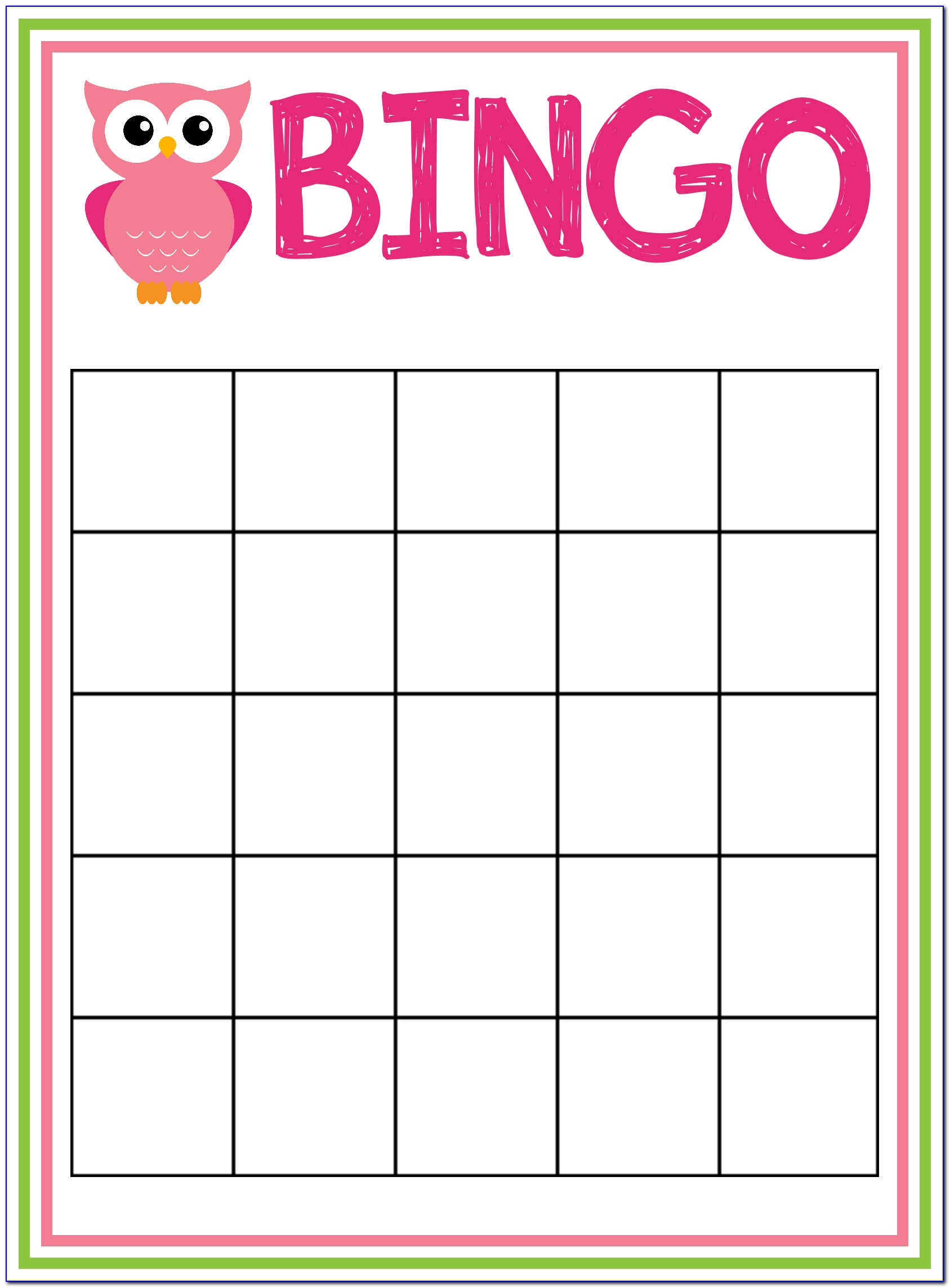 Baby Shower Bingo Card Generator With Pictures