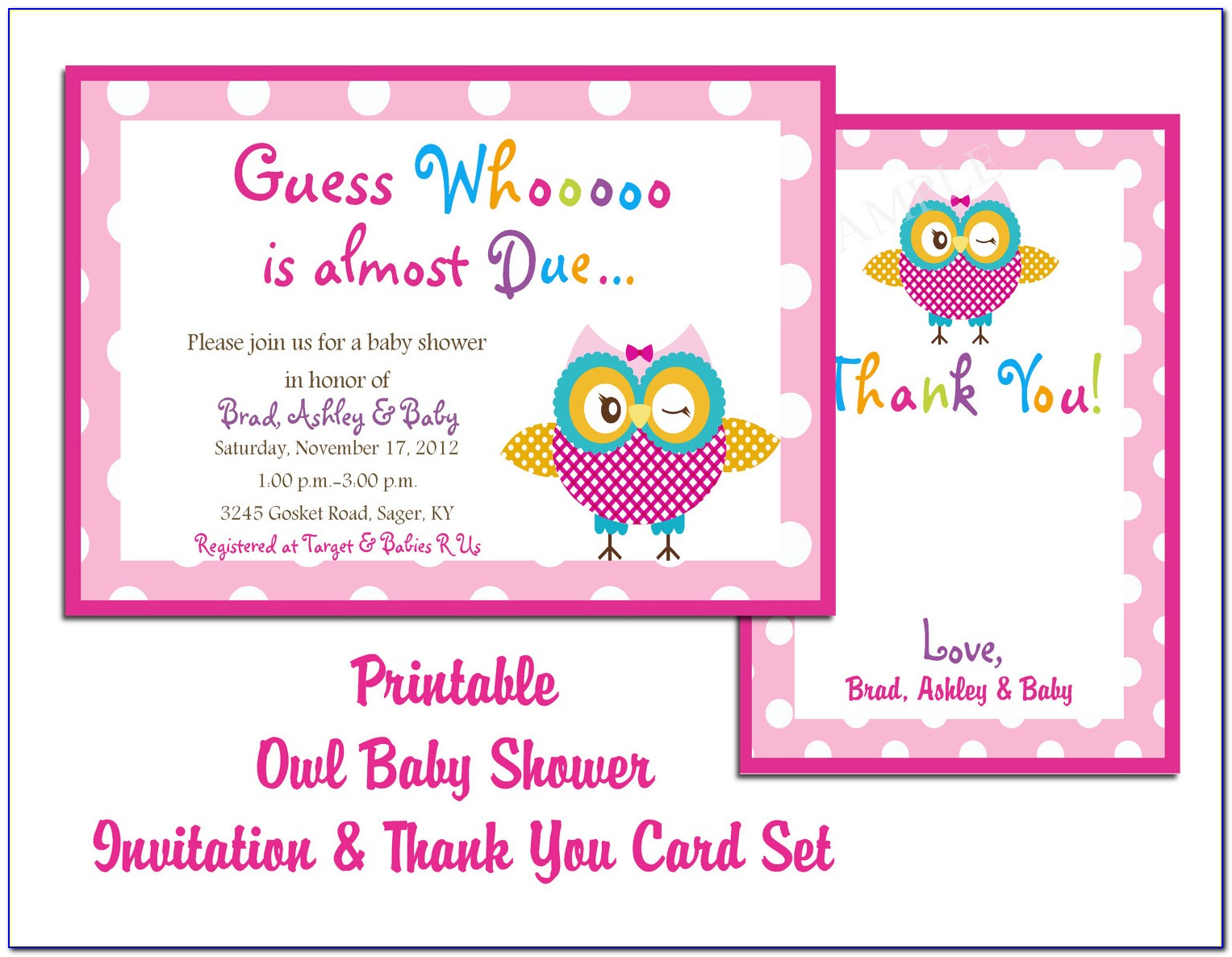 Baby Shower Card Template Psd