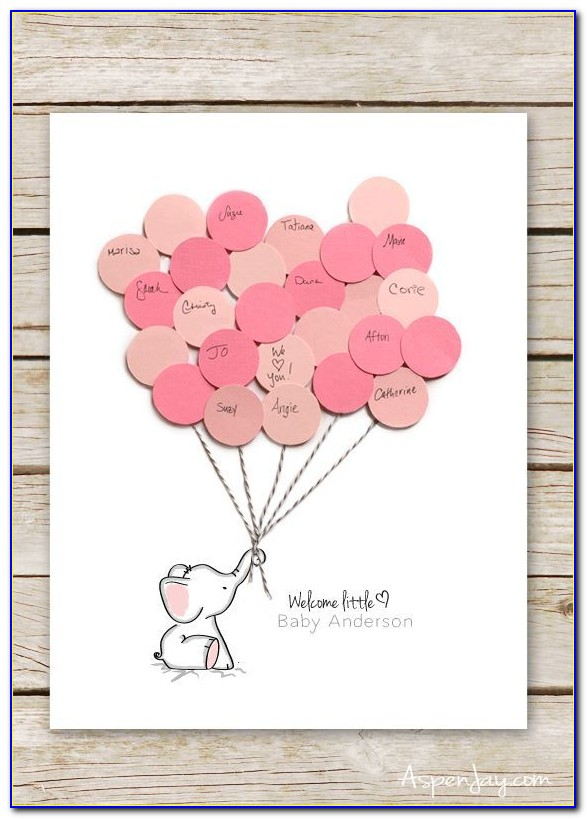 Baby Shower Fingerprint Guest Book Template Free