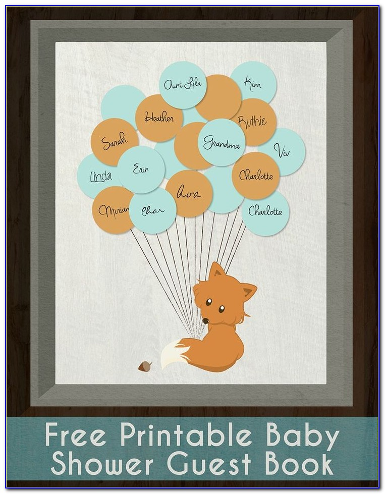 Baby Shower Guest Book Sign Template