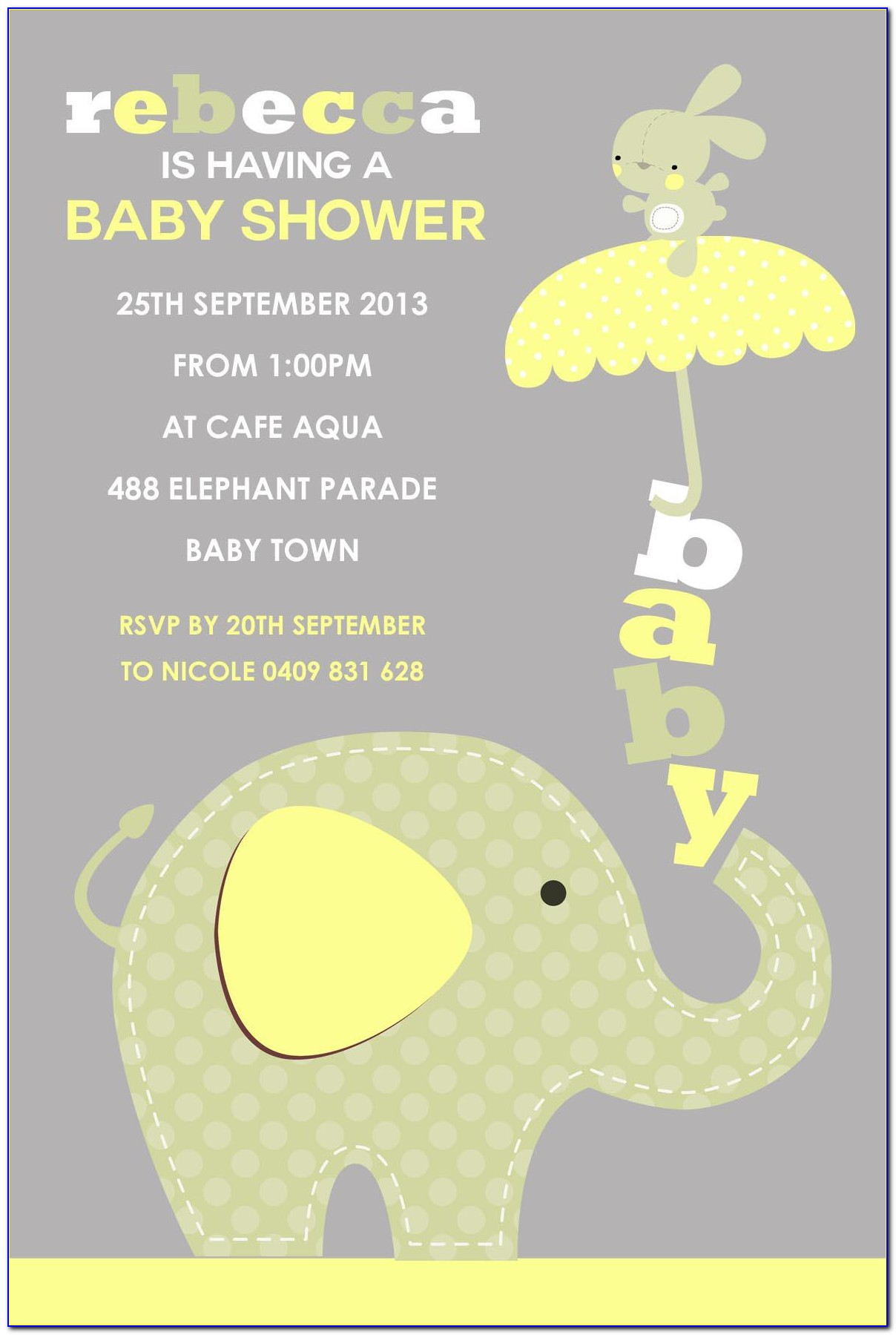 Baby Shower Invitation Card Design Templates Free Download