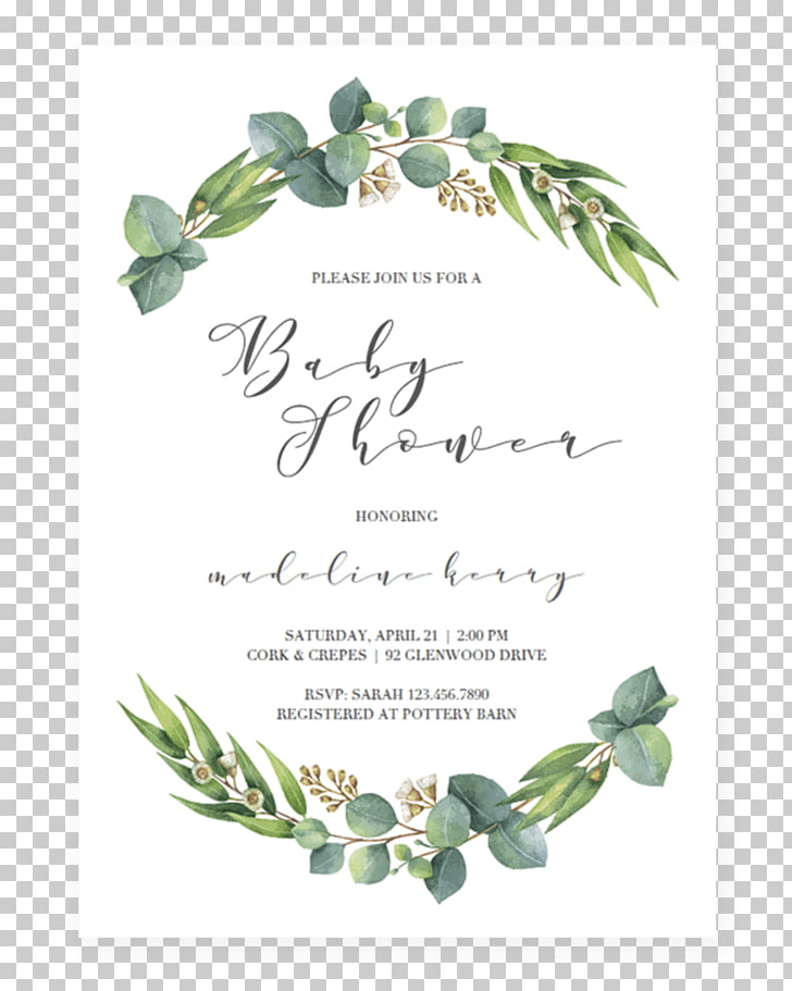 Baby Shower Invitation Microsoft Word Template