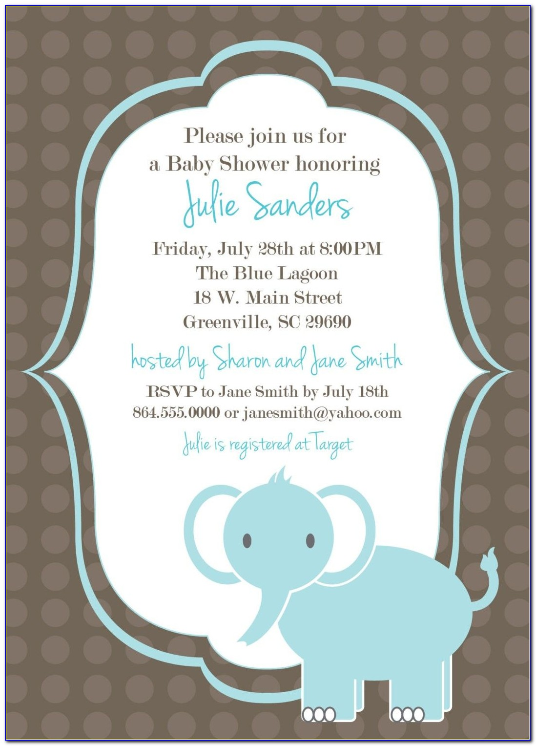Baby Shower Invitations Microsoft Word Template