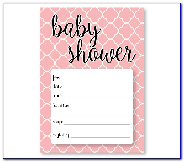 Baby Shower Invitations Templates Editable Pink And Gold