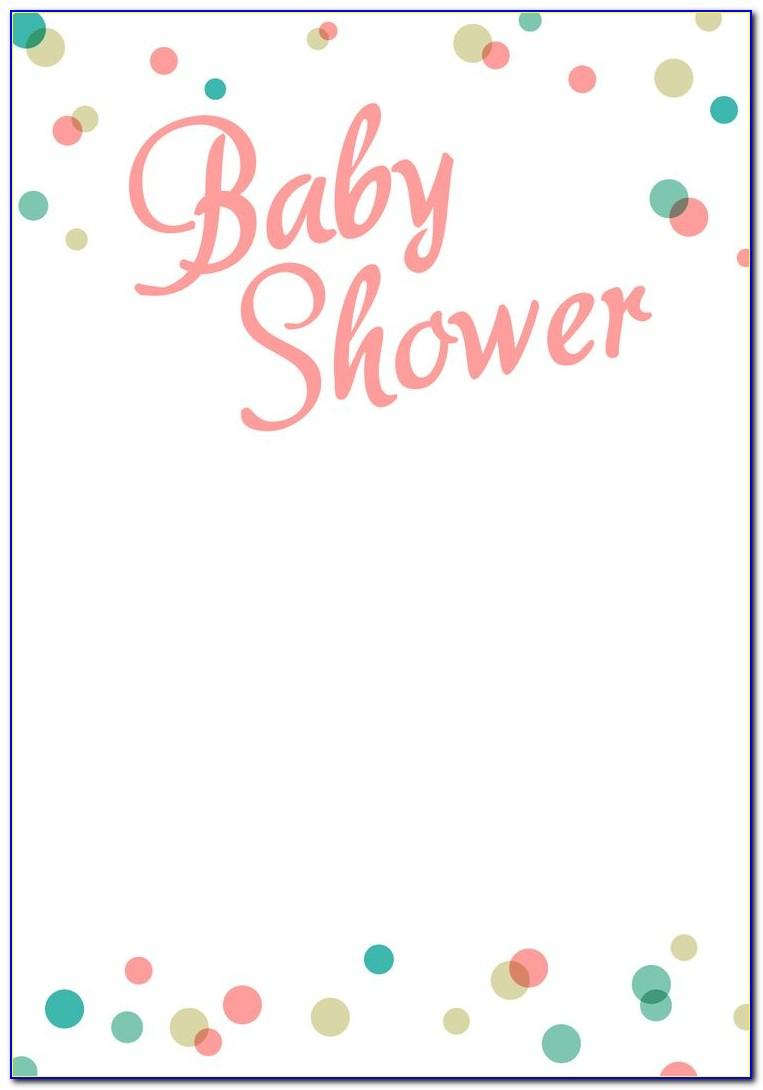 Baby Shower Templates Girl Free