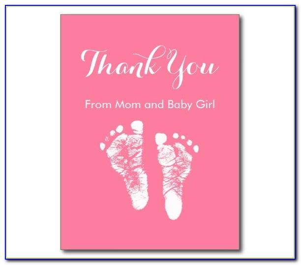 Baby Shower Thank You Cards Templates Free Download