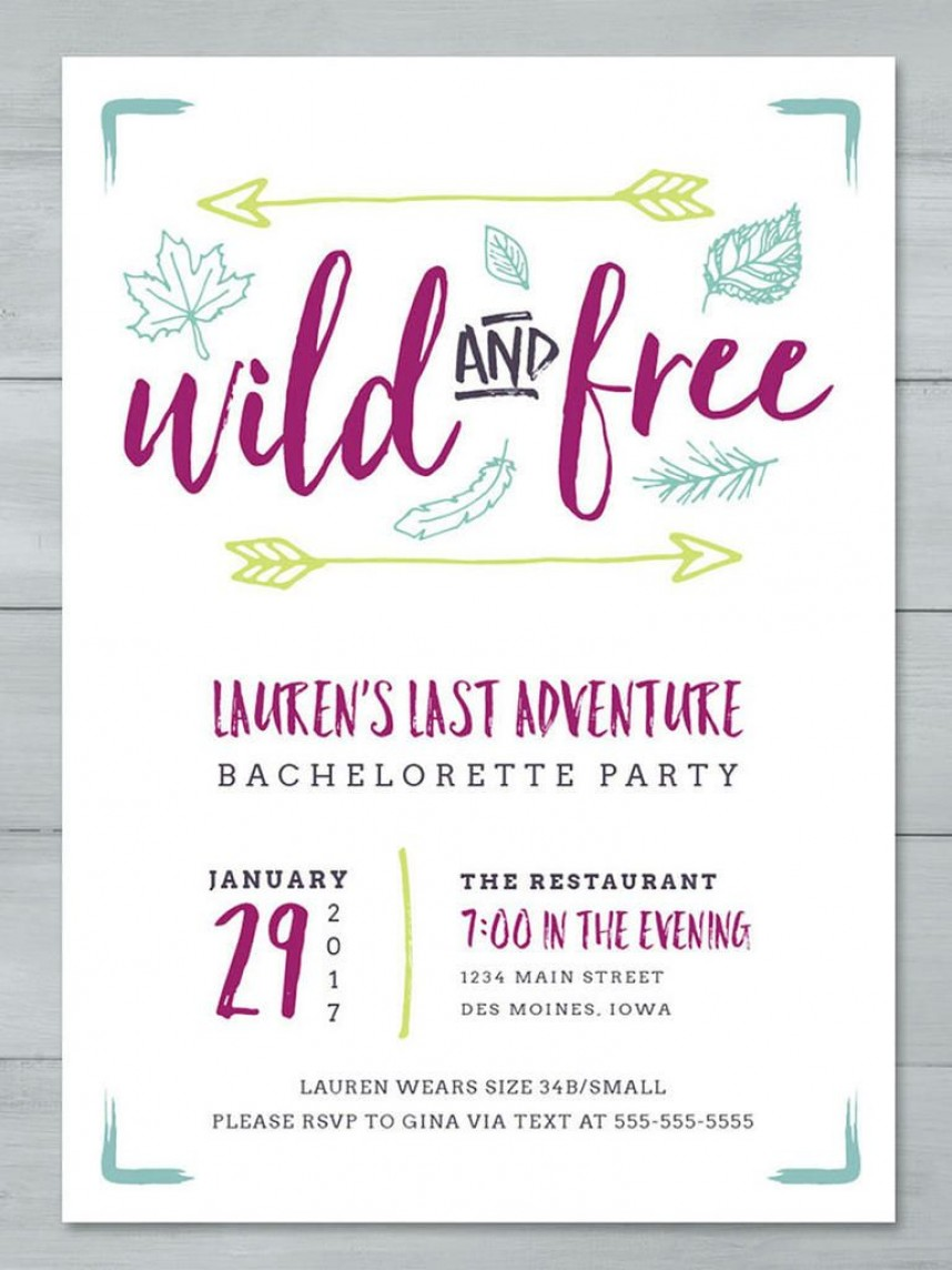 Bachelorette Itinerary Template Free Download