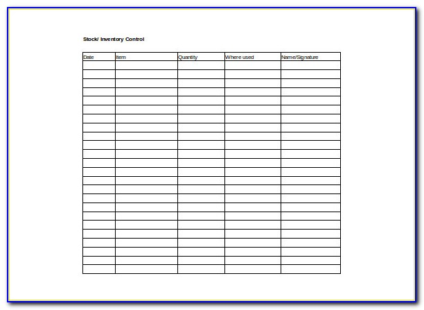 Bar Inventory Control Excel Template