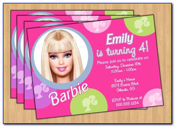 Barbie Invitation Template Free Download