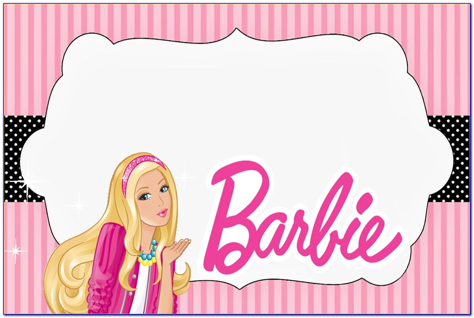 Barbie Invitation Template Free