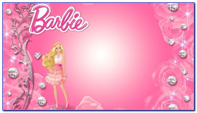 Barbie Invitation Template Psd