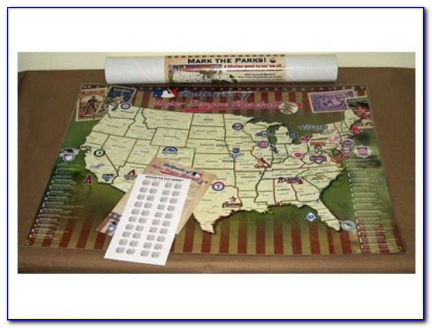 Baseball Stadium Travel Map Push Pin