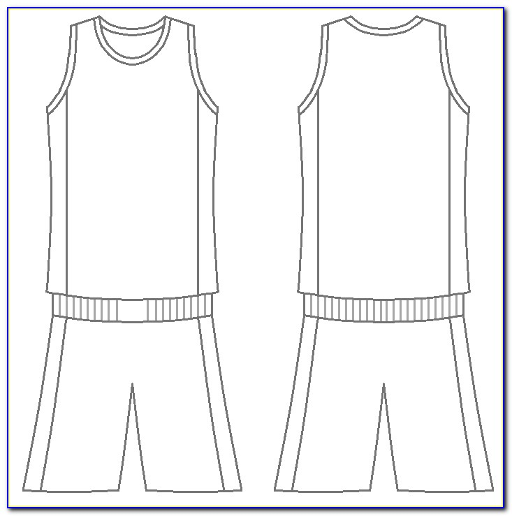 Basketball Jersey Design Template Free Download