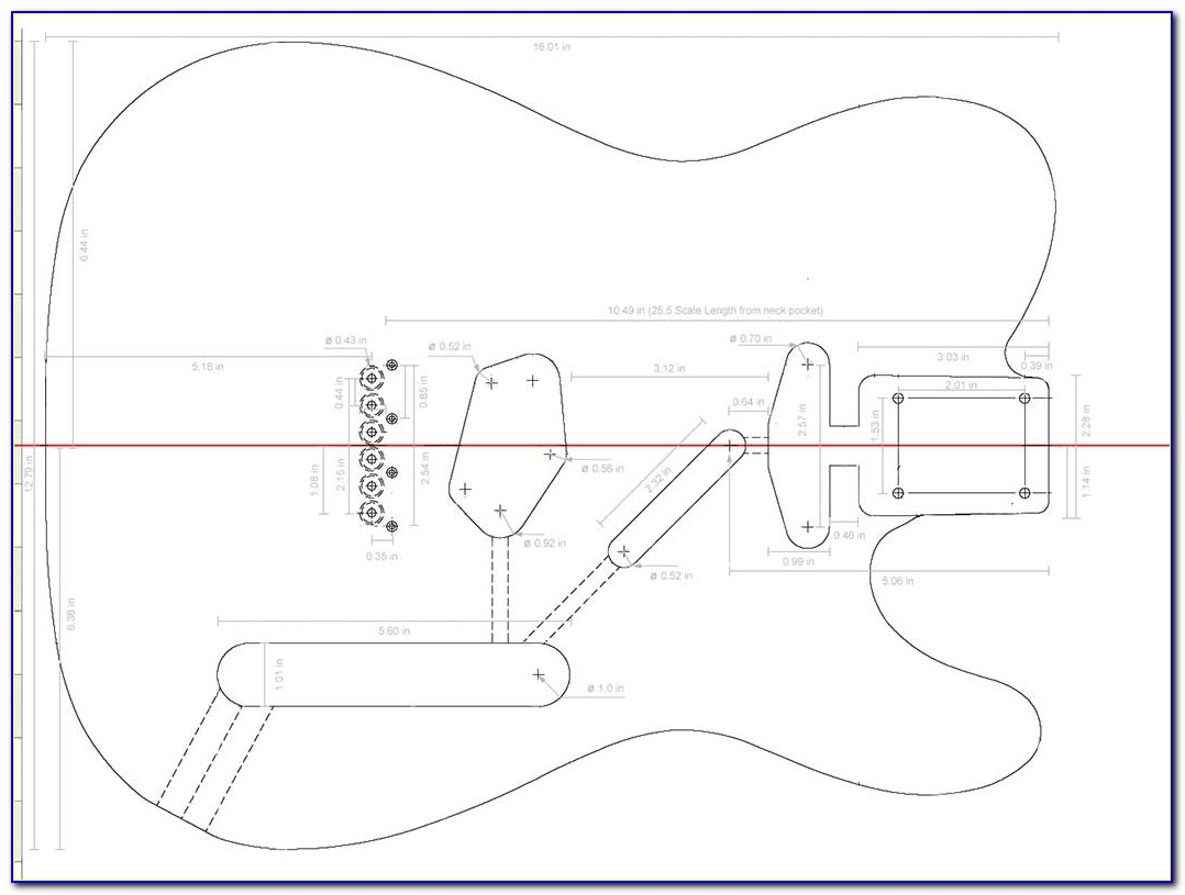 Bass Pickup Routing Templates