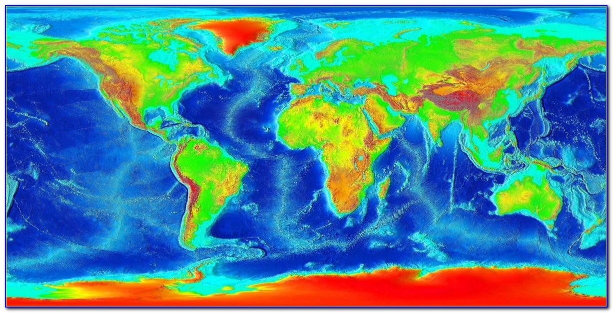 Bathymetric Map Of The World