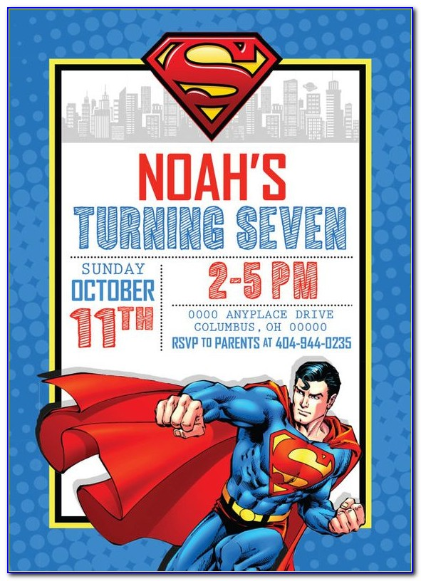 Batman Vs Superman Invitation Template Free