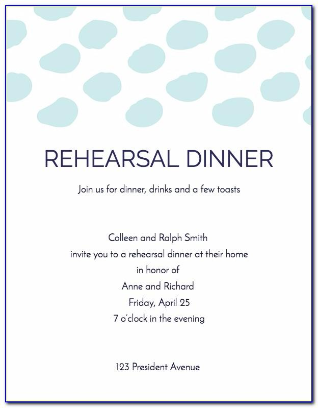 Bbq Rehearsal Dinner Invitation Template