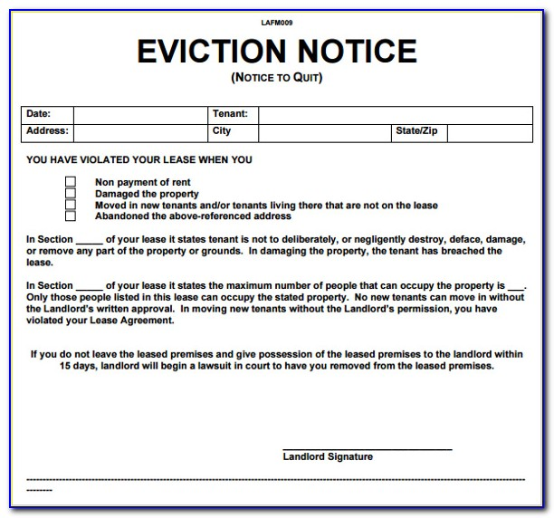 Bc Rental Eviction Notice Form