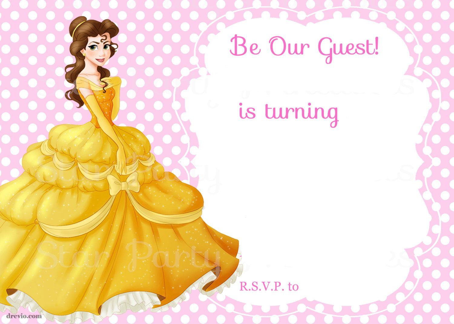 Beauty And The Beast Bridal Shower Invitation Template Free